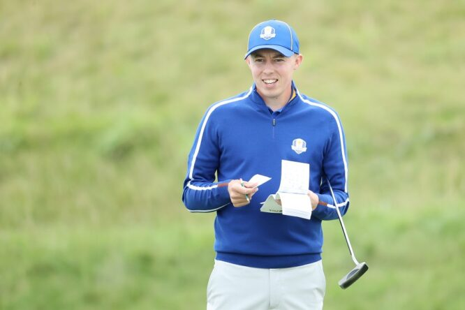 Matt Fitzpatrick in the last Ryder Cup at Whistling Straits. © Getty Images